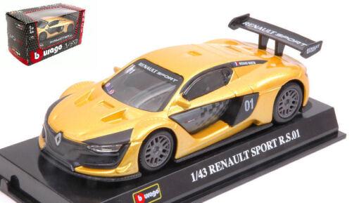 01 Interceptor Yellow 1:43 Model BBURAGO Renault Sport R.s