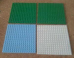 2 x LEGO BRIGHT GREEN BASE PLATES 16x16 PIN  NEW