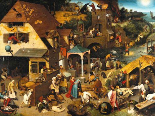 Hieronymus Bosch Pieter Bruegel Elder Paintings 1559 Canvas Art Print
