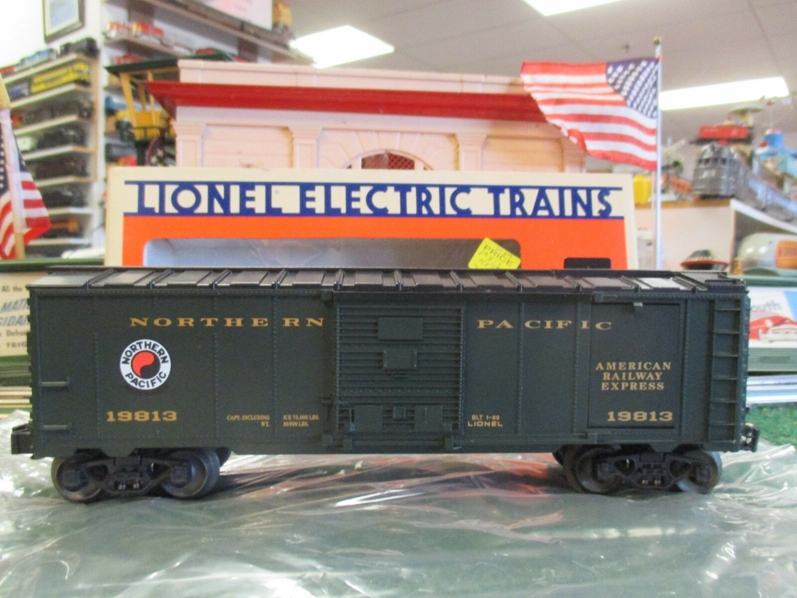 LIONEL MODERN 19813 NORTHERN PACIFIC ICE CAR NIOB 1989
