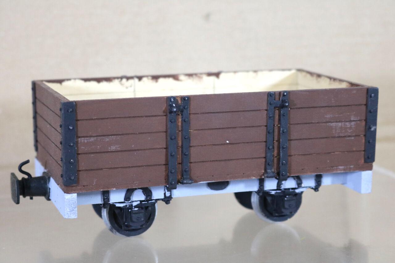 Brandbright G Maßstab Schmal Spur Set Gebaut Freelance 5 Plank Offen Waggon NG