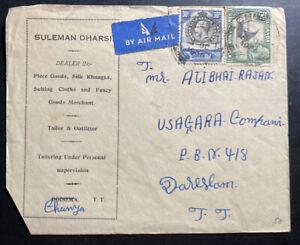 1936-Chunya-Tanganyika-British-KUT-Commercial-Airmail-Cover-To-Dar-Es-Salam
