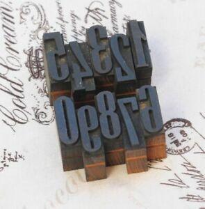 0-9-Zahlen-27mm-Holzlettern-Lettern-Stempel-Holz-letterpress-wood-type-typo