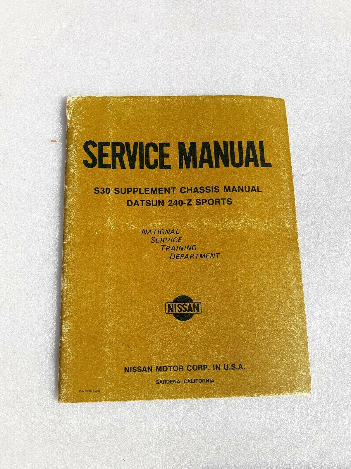 Datsun 240Z (S30) Supplement Chassis Service Manual-Added info for your