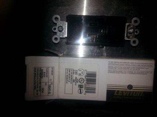 Leviton Black Decora commercial seul récipient de 20 A Prise 125 V 16341-E nouveau