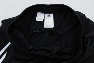 Adidas Full Mens Tracksuit Zip Jogging Top Bottoms 3 Stripe Black ... 4705fc3f13a
