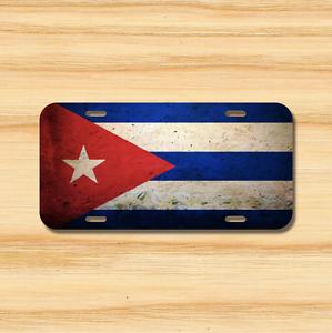 Cuba Flag License Plate Vehicle Auto Tag Havana Santiago de Cuban FREE SHIPPING