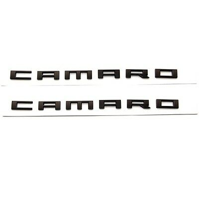 2x Genuine CAMARO Letter  Emblem 3D Badge GM Chevy Yu Chrome OEM