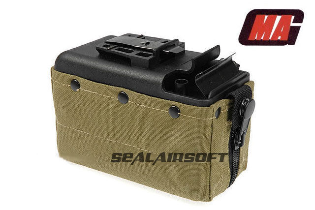 MAG 2500rd Airsoft Toy Drum Pouch Magazine For Classic Army CA / TOP M249 AEG OD