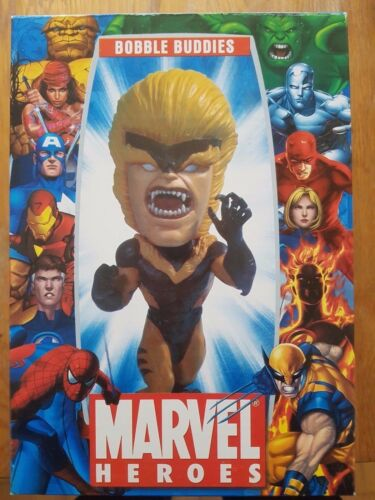 Sabretooth Bobble Buddies Marvel Eroi bobblehead UK Venditore