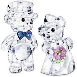 SWAROVSKI-CRYSTAL-KRIS-BEARS-034-YOU-AND-I-034-BRIDE-amp-GROOM-842936-MINT-IN-BOX