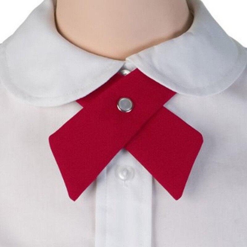 Adjustable Criss-Cross Bowtie Neck Tie School Uniform Boys Girls Cross Tie BA
