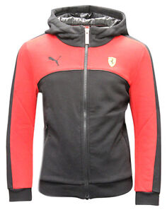 Puma SF Scuderia Ferrari Boys Hoodie Zip Up Hooded Sweatshirt 761390 ... 5aea24ee4
