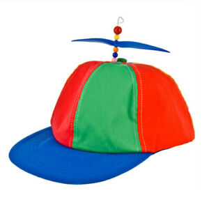 Classic-Novelty-Helicap-Multiple-Coloured-Helicopter-Cap-with-Propellers