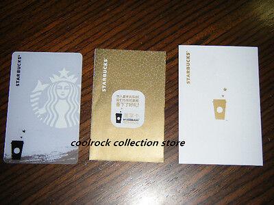 2015 China Starbucks coffee LOGO gift card with sleeve used