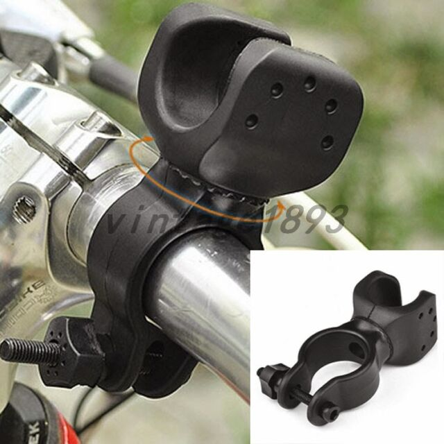 360°Mountain Cycling Bicycle Bike light LED Lamp Holder Clamp Clip Accessories