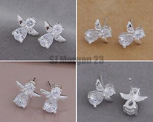 Pair-of-Guardian-Sterling-Silver-925-Cubic-Zirconia-Angel-Stud-Earrings