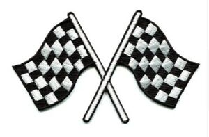 Chequered-Flag-Patch-Formula-1-Motor-Racing-Sport-Checkered-Iron-Sew-On-F1-Car