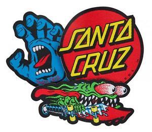 SANTA-CRUZ-Sew-on-Skateboard-Patch-Set-Assorted-Logos-Screaming-Hand-Slasher