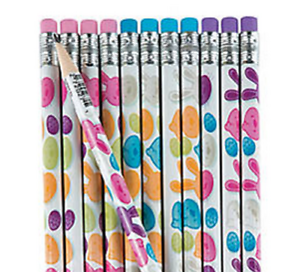 Pack-of-12-Easter-Bunny-Chick-Pencils-Party-Loot-Bag-Fillers
