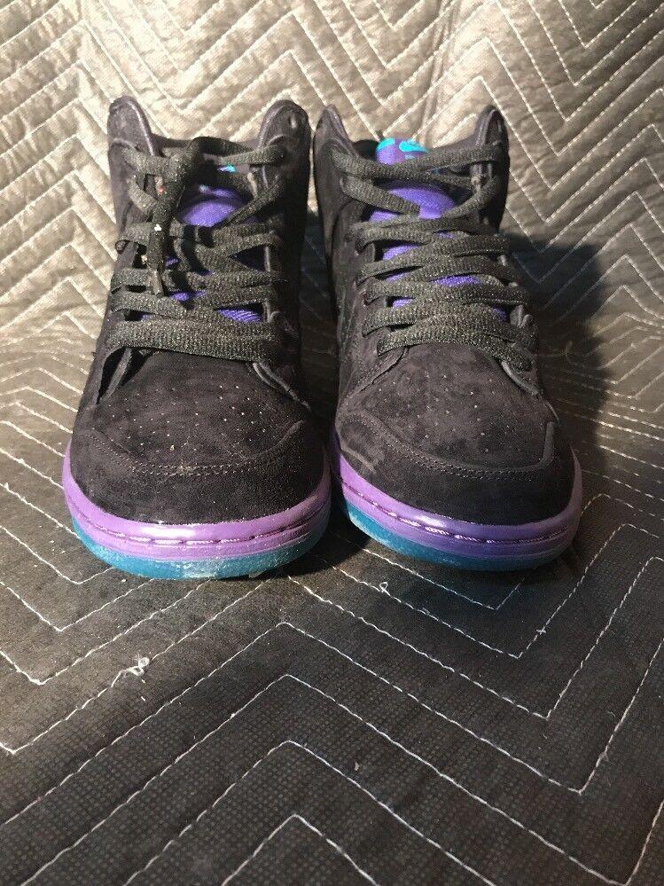 Nike 313171 027 Dunk High Premium SB Black Black-Grape Ice Sz.11.5 Men's Wild casual shoes