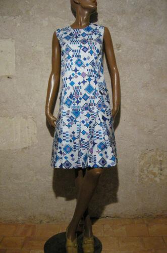 70er Baumwolle 1970 Kleid Vintage 70s Piqué Vtg 38 Schick Kleidung 40 wnf0WxSx