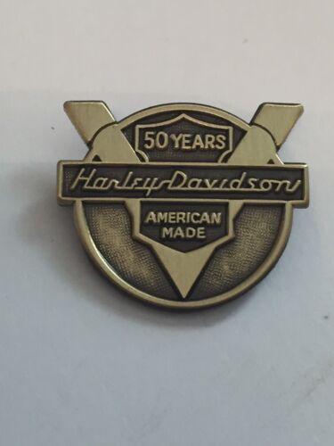 Harley 1954 Panhead 50th Anniversary Brass Hat JACKET Cap Lapel Pin Polished 50