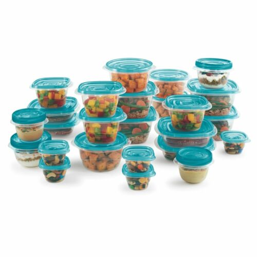 50 pc Rubbermaid TakeAlongs Food Storage Container Set Kitchen Plastic Lunch Box