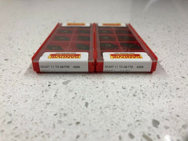 2.5 2 4315 CNC Carbide Turning Inserts TCMT3 Sandvik 10Pcs TCMT16T308-PM