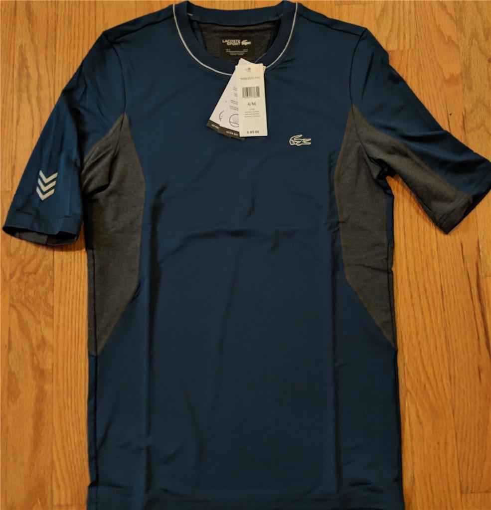 Herren Authentic Lacoste Sport Performance Compression T-Shirt Blau 7 (2XL) 85