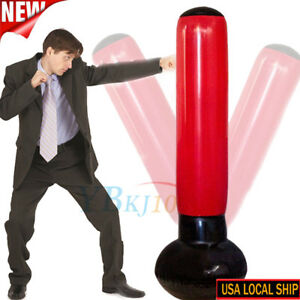 Inflatable-De-Stress-Punch-Bag-Tower-Free-Standing-Box-Boxing-Fun-Workout-Pump