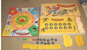1967 SPIDER-MAN Board Game - Near Complete - Scarce - Yowza, AVENGERS Characters