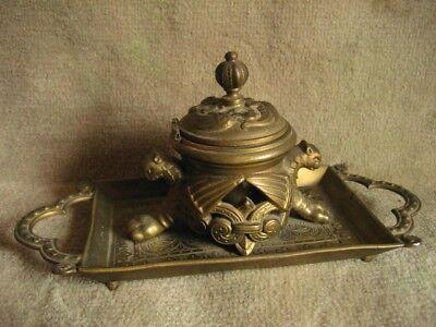 Initiative Antiker Tintenfass Bronze Be Friendly In Use Bronze Antike Originale Vor 1945
