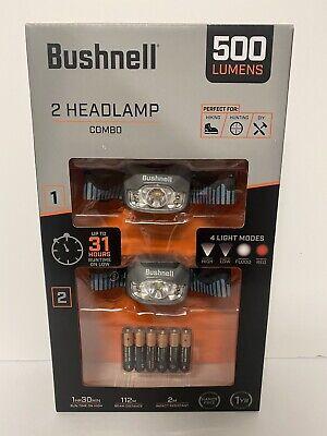 Bushnell 2 Headlamp Combo 500 Lumens 4 Light Modes for sale online