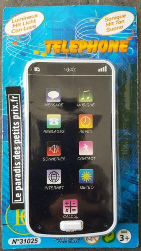 smartphone sonore et lumineux piles incluses téléphone portable jouet