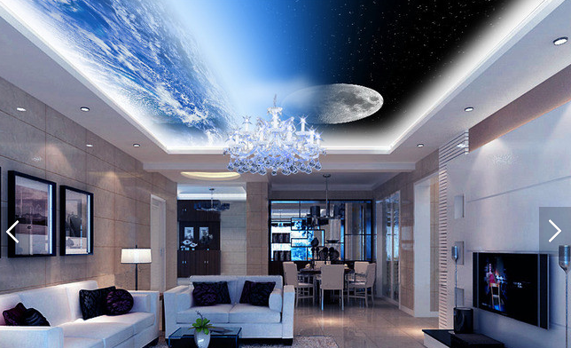 3D Moon Clouds View 81 Wall Paper Wall Print Decal Wall Deco AJ WALLPAPER Summer