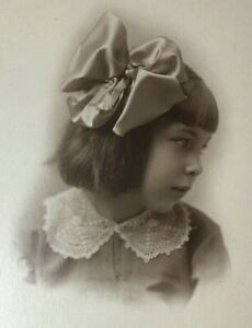 c 1911 Child Adorable Little Girl Real Photo Postcard RPPC