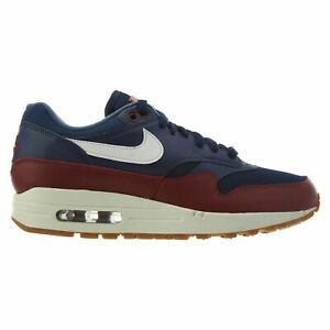 406970e2 Nike Air Max 1 Mens AH8145-400 Navy Blue Team Red Sail Running Shoes ...