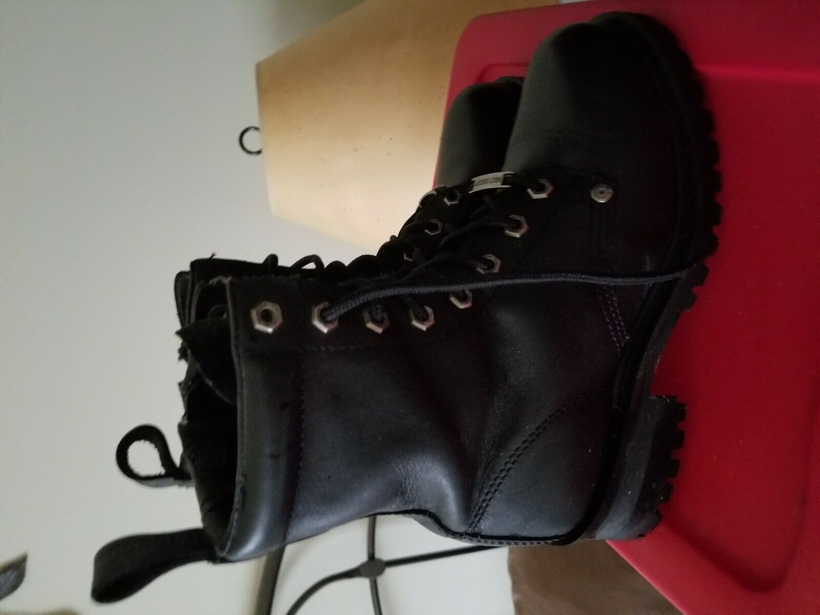 Genuine harley davidson leather boots size 8