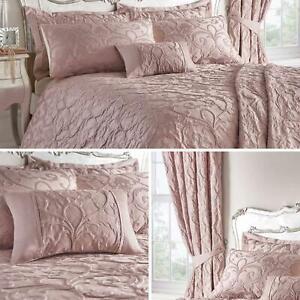 Blush-fundas-nordicas-Rosa-con-Textura-Jacquard-Edredon-Cubierta-de-Lujo-Coleccion-de-ropa-de-cama