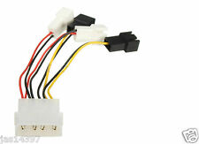 2Pin to D type 4Pin Molex Power Y-Splitter Cable Cord For PC fan 12v/5v