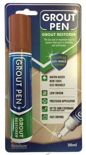 LARGE GROUT PEN REVIVES /& PROTECTS STAINED TILE GROUT AVAILABLE IN 9 COLOURS