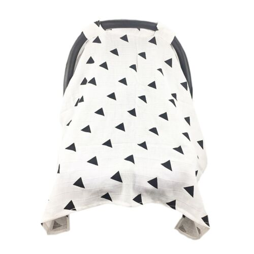Baby Infant Stroller Pram Car Seat Cover Soft Muslin Cotton Sun Shade Canopy