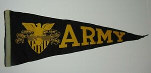Large-29-034-Old-Vintage-1950s-US-ARMY-WEST-POINT-NEW-YORK-MILITARY-GRAPHIC-PENNANT