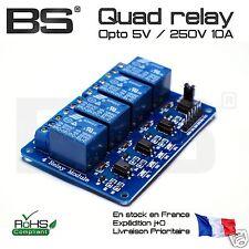 Module 4 relais opto 4 relay module 12V 10A 250V 5V 3.3V contacteurs Pi ESP32 4