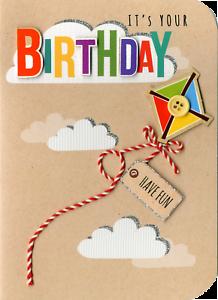 Il est ton anniversaire ornées de cartes de voeux fini à la main Sugar Cube cartes