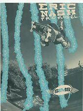 1988 Sims Skateboards Eric Nash Advert From Vintage Thrasher Magazine RARE