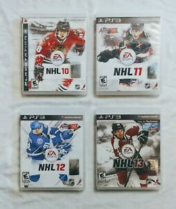 LOT OF 4 EA SPORTS HOCKEY GAMES NHL10,11,12,13 FOR PS3 COMPLETE