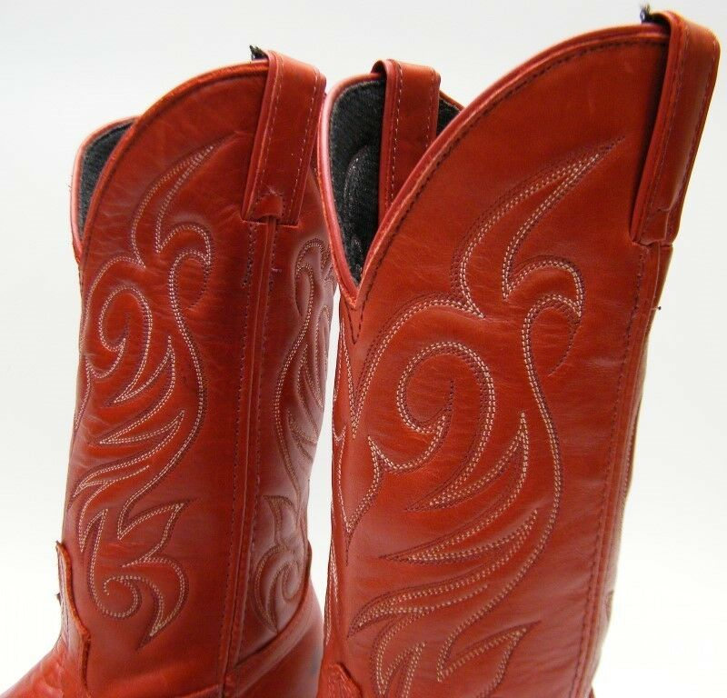 Damenschuhe NEW VINTAGE LAROTO ROT LEATHER COWBOY WESTERN Stiefel SZ 6.51/2 6.51/2 SZ M USA MADE 4bf165