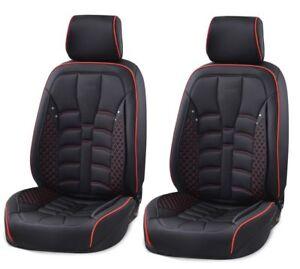 Alta-Calidad-Polipiel-Negra-Fundas-Asiento-Frontal-Cojin-para-Audi-A4-A6-A8-Q7